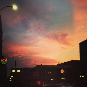 Sunset in Lincoln Nebraska