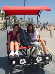 barcelona spain female traveler